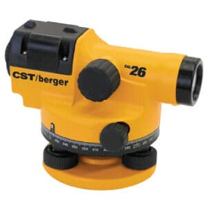 CST BERGER CAL26D Builders Level And Tripod