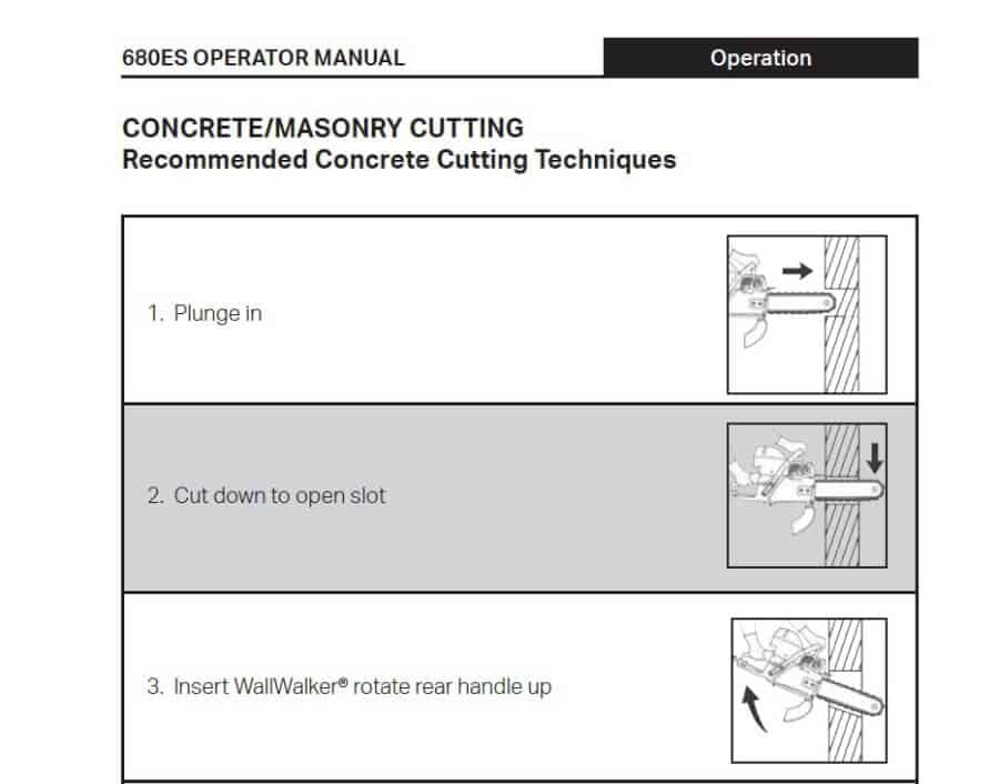 ICS 680ES Concrete And Masonry Cutting Techniques Guide